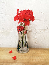 Load image into Gallery viewer, Hand painted Poppy posy vase