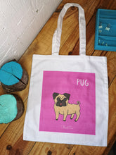Load image into Gallery viewer, Pug Tote Bag