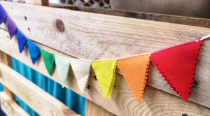 Mini magnetic rainbow bunting