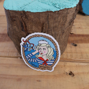 Sailor girl sticker