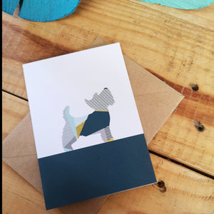 Scottie dog Greetings Card
