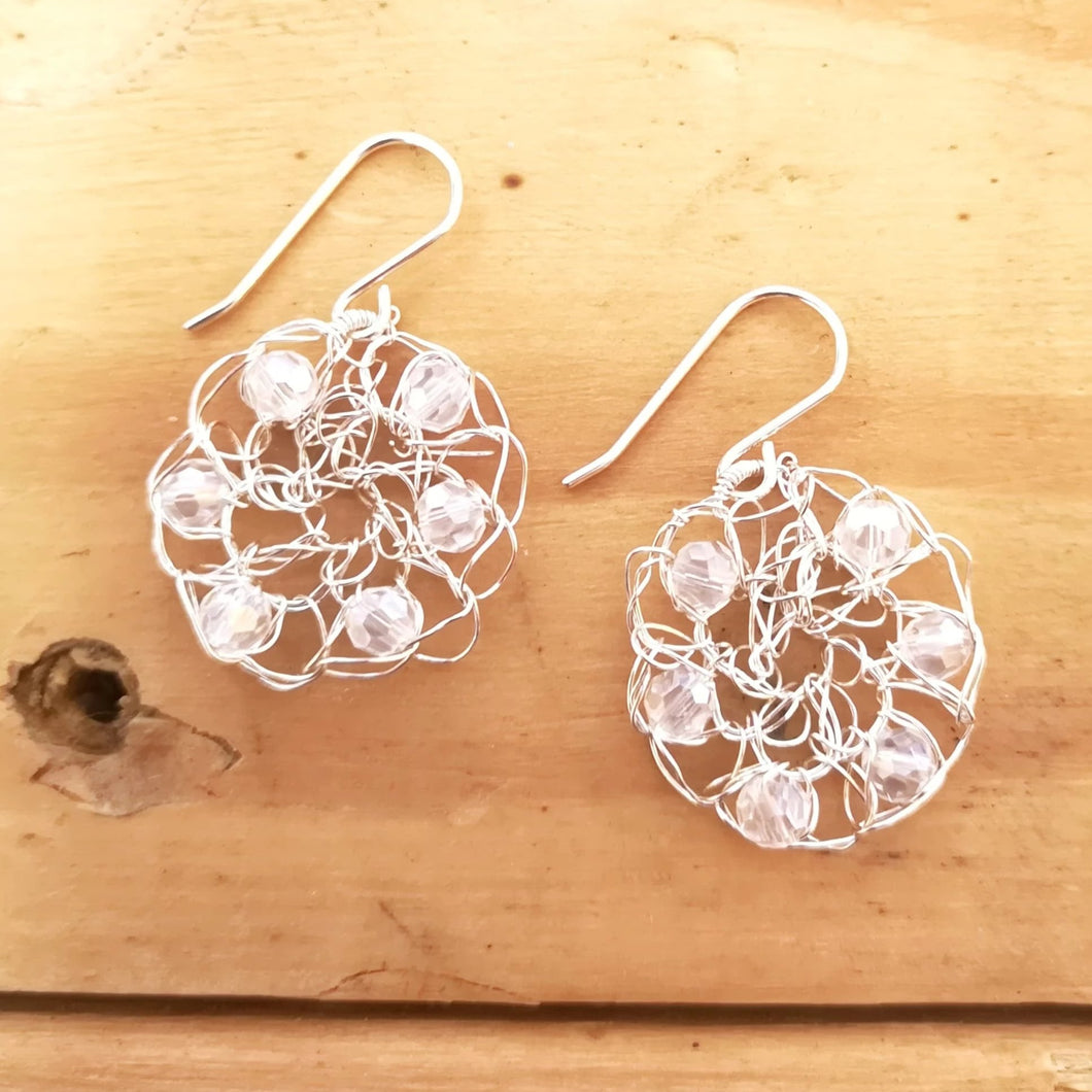 wire crochet earrings