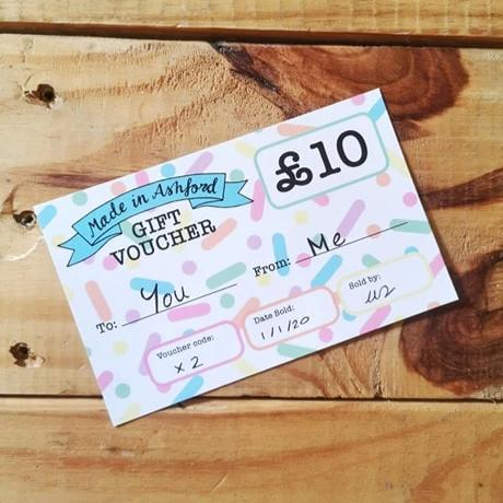 £10 Made in Ashford Voucher