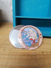 Load image into Gallery viewer, Sailor girl original illustration pocket mirror