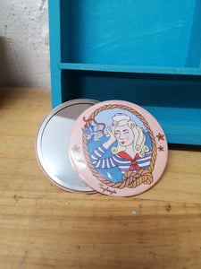 Sailor girl original illustration pocket mirror