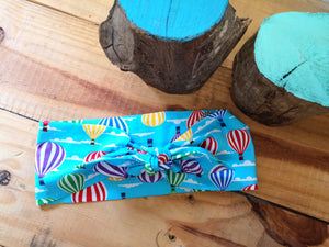 Headscarf turquoise hot air balloons