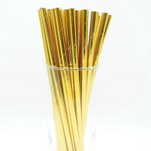 Load image into Gallery viewer, Gold Paper Straws/Sticks