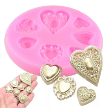Load image into Gallery viewer, Heart Shaped Silicone Mold
