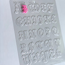 "Load image into Gallery viewer, Old English Alphabet 1"" CHOCOLATE MOLD"