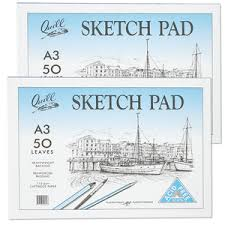 A3 Quill Sketch Pad 110gsm 50 Leaves
