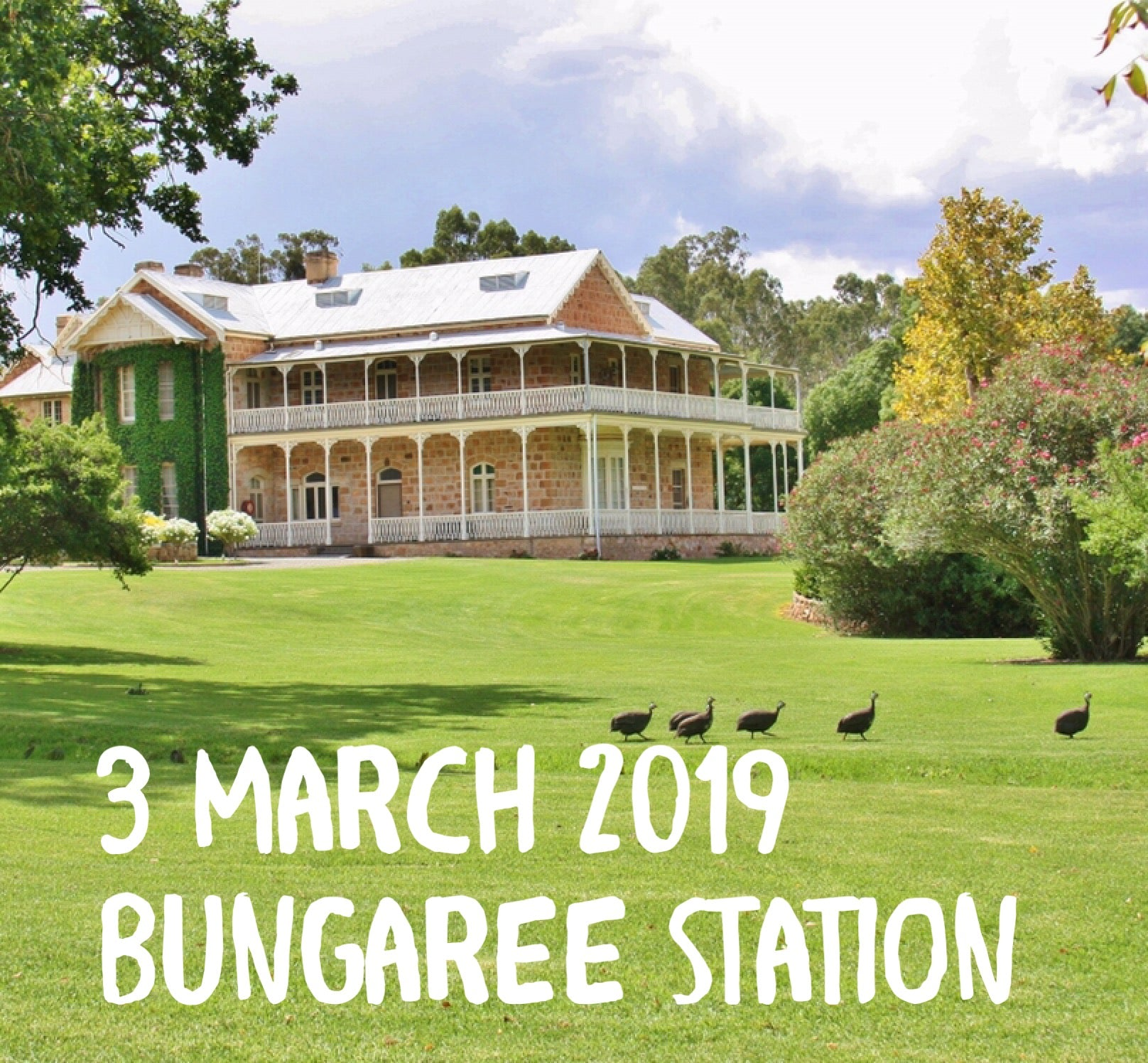 Paint and Plonk at Bungaree Station March 2019