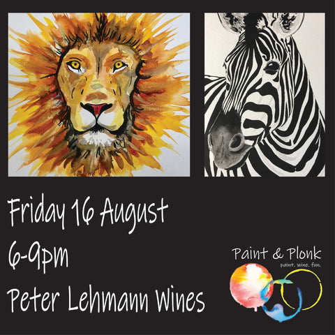 Paint and Plonk at Peter Lehmann Wines 16 August 2019