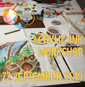 Paint & Plonk Acrylic Ink Workshop at Peter Lehmann Wines 22 September