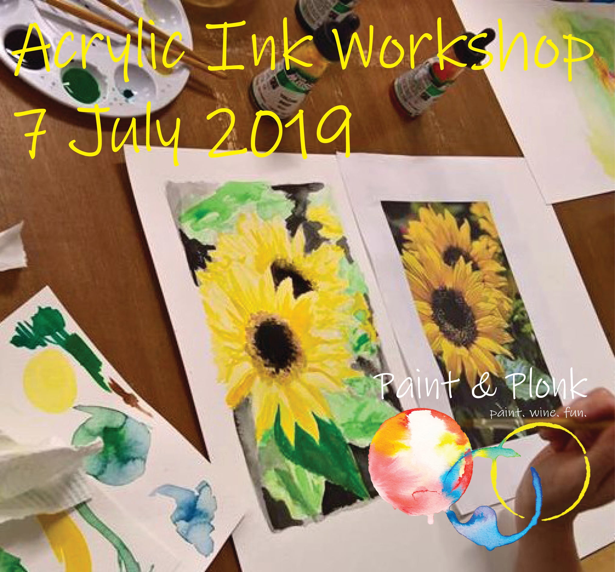 Paint & Plonk Acrylic Ink Workshop at Peter Lehmann Wines