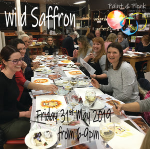 Paint and Plonk at Wild Saffron May 2019