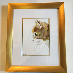 Stephanie - Original Artwork in Pen and Ink - Framed