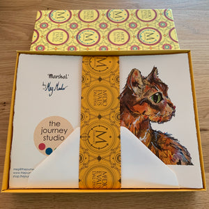 Cats in a Box - 20 Greeting Cards (4 designs x 5)
