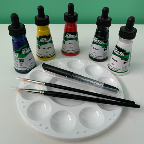 Acrylic Ink Starter Set - Primary