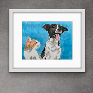 5x7 Framed Print - Besties