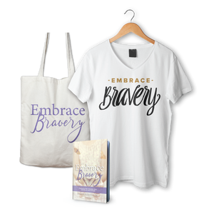 Combo Package: Embrace Bravery Book, T-shirt & Tote