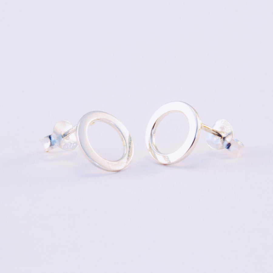 Isabella sterling silver round circle earrings alexis kate jewellery
