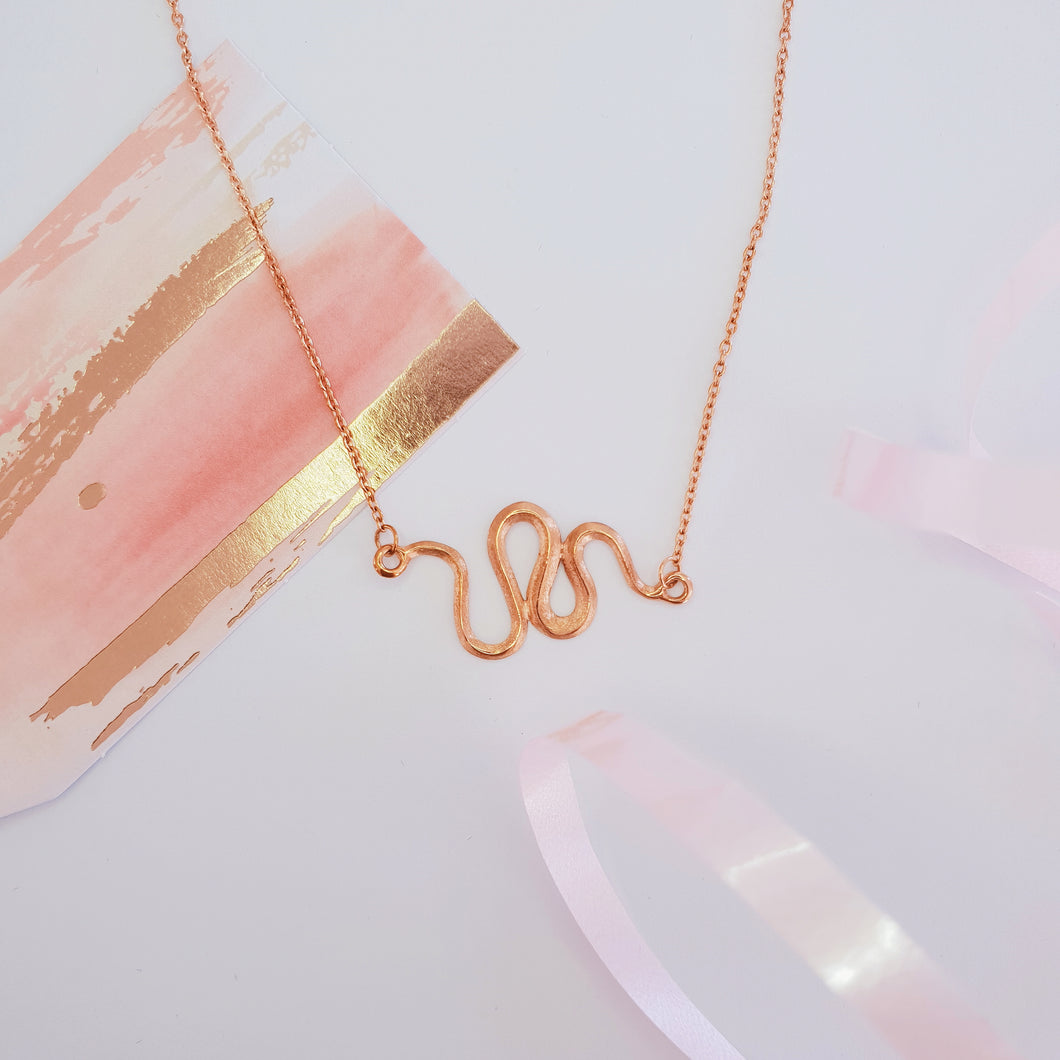 Julianne Necklace - 24ct Rose Gold.
