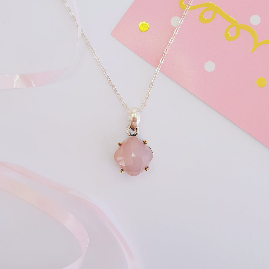 Pink Chalcedony Catherine necklace