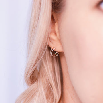Evie earrings - Sterling silver twist fine jewellery