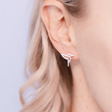Ava bird Earrings - Sterling Silver