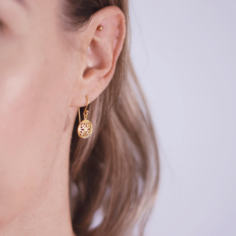 Gold plated earrings. Tayla, handcrafted.  Alexis Kate Jewellery