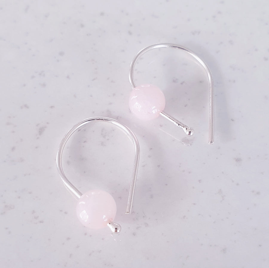 Rose earrings - Rose Quartz