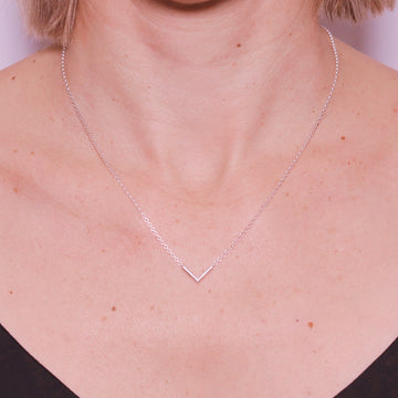 Stella sterling silver angle necklace from alexis kate jewellery