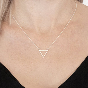 sterling silver triangle jodine necklace