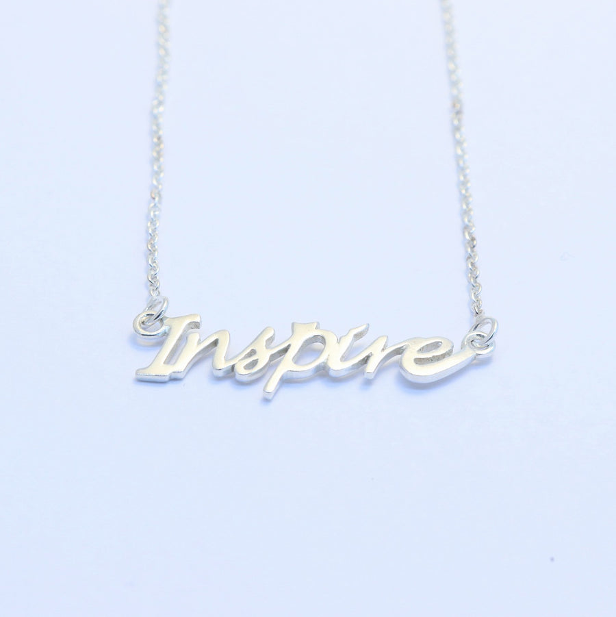 sterling silver Inspire necklace