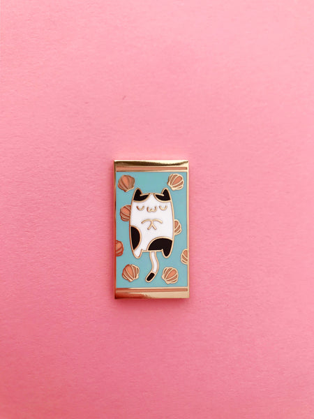 the pink samurai enamel pin club august 2019