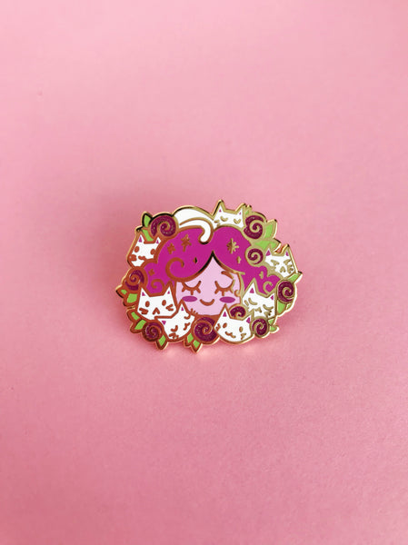 Kelsey Cretcher for The Pink Samurai & Friends enamel pin club