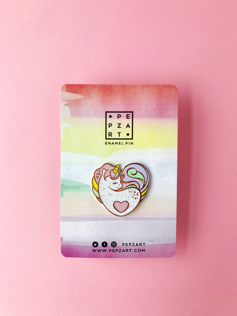 Pepz Art Unicorn Heart Pin