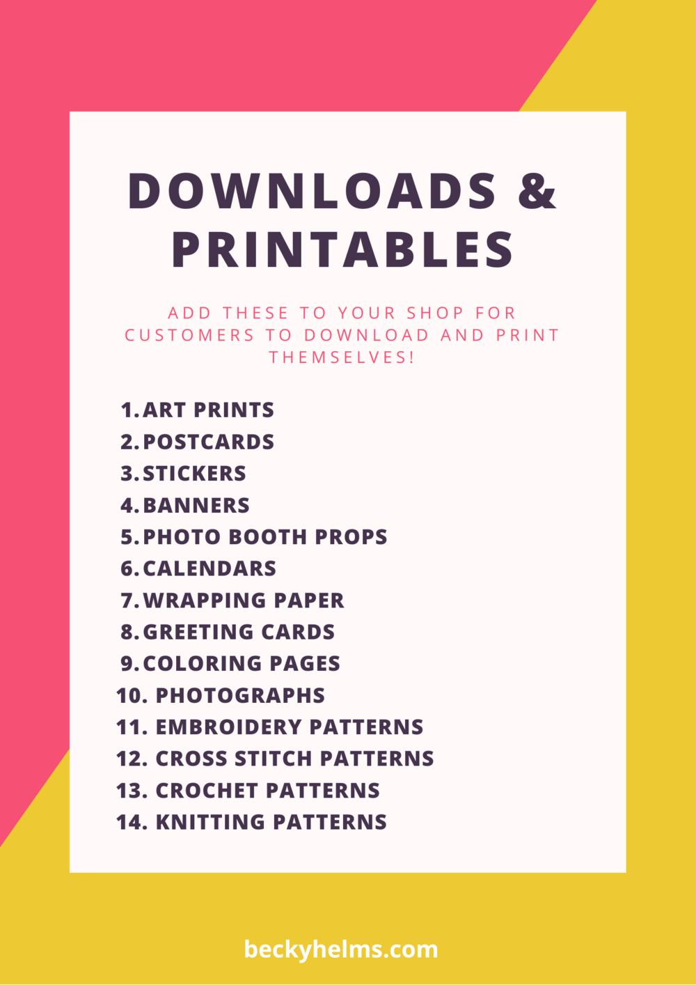 downloads and printables to sell in your e-commerce shop