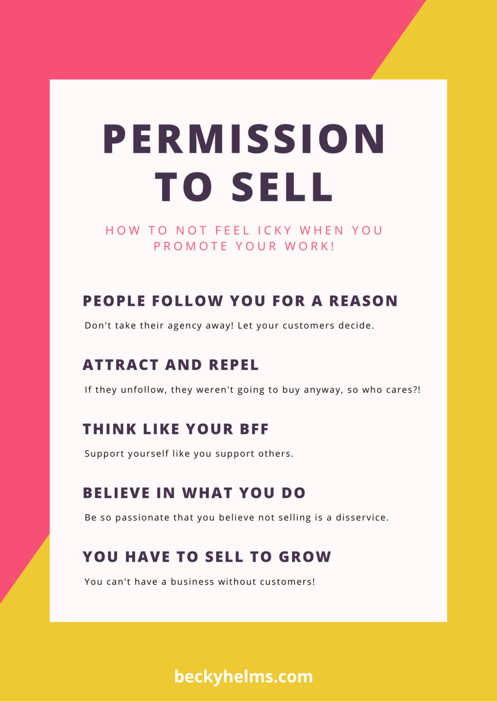 permission to sell