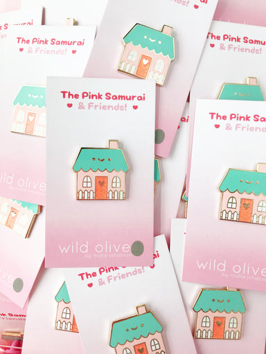 Happy Home • Mollie Johanson + The Pink Samurai - Enamel Pin - The Pink Samurai