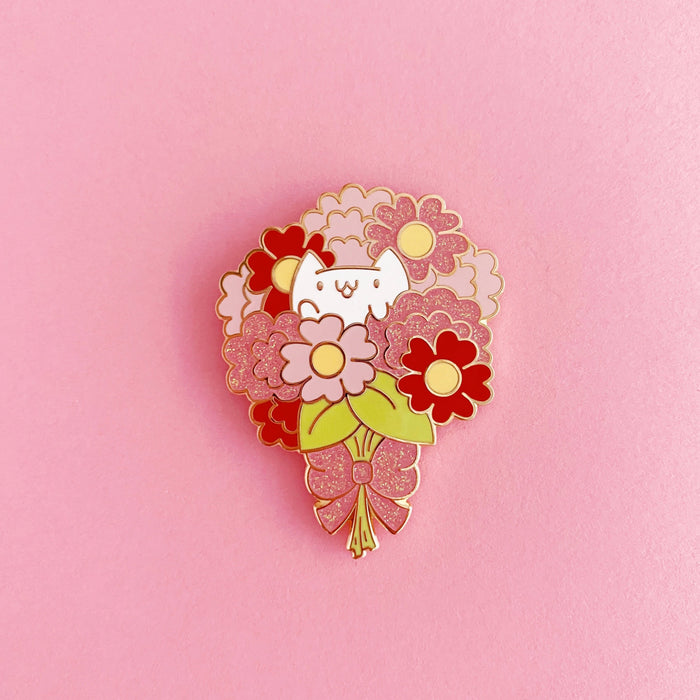 Flower Kittens Bouquet Enamel Pin • LE Pin Club Variant - Enamel Pin - The Pink Samurai
