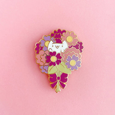 Flower Kittens Bouquet Enamel Pin