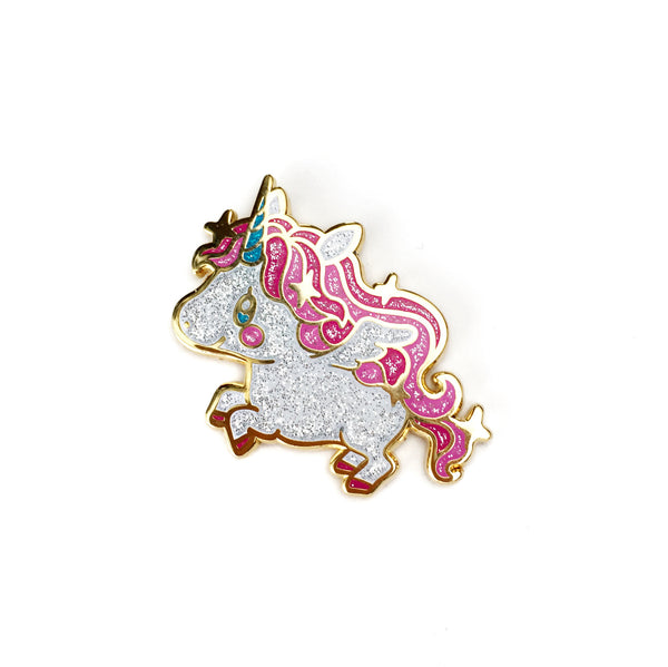 Glittery Unicorn Pegasus Lapel Pin • MIS0HAPPY + The Pink Samurai
