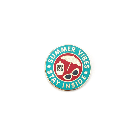 Summer Vibes Stay Inside Lapel Pin