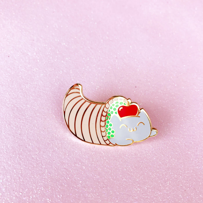 Catucopia Lapel Pin • Thanksgiving 2017 Limited Edition - Enamel Pin - The Pink Samurai