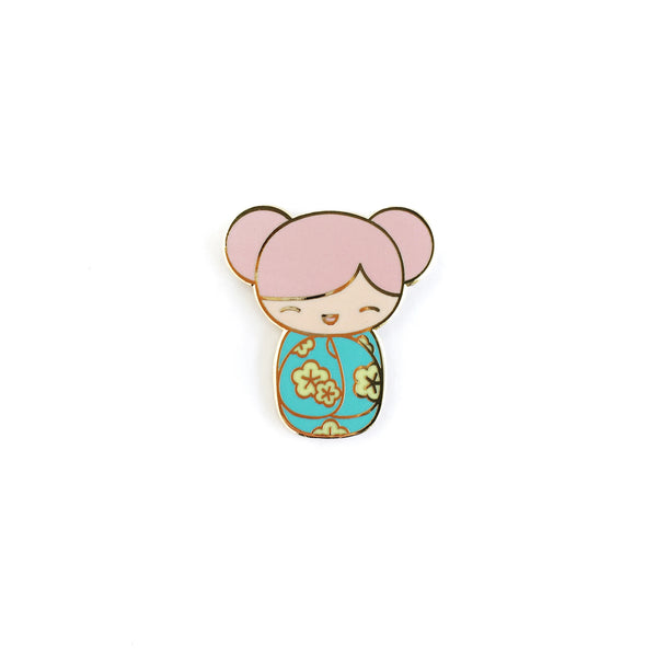 Kawaii Kokeshi Doll Lapel Pin