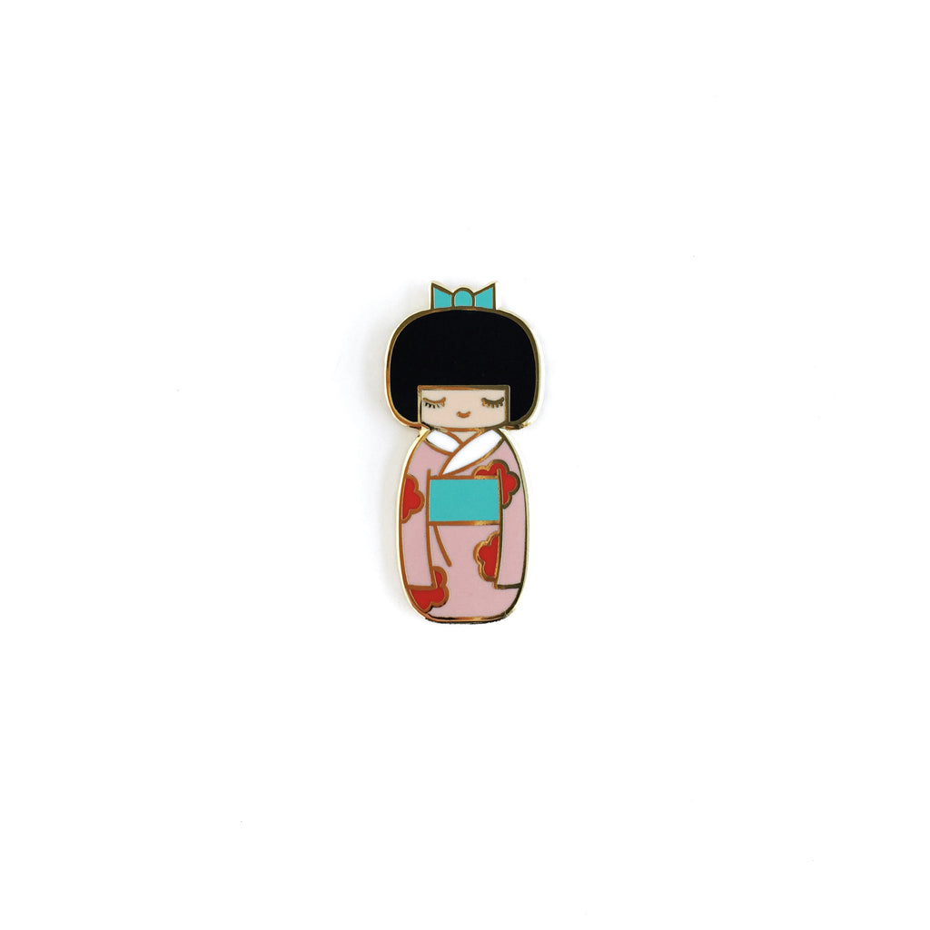 Traditional Kokeshi Doll Lapel Pin