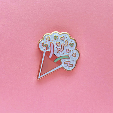 Party Horn Glitter Enamel Pin - Enamel Pin - The Pink Samurai