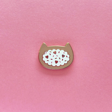 Valentines Cat Sprinkle Sugar Cookie Enamel Pin - Enamel Pin - The Pink Samurai