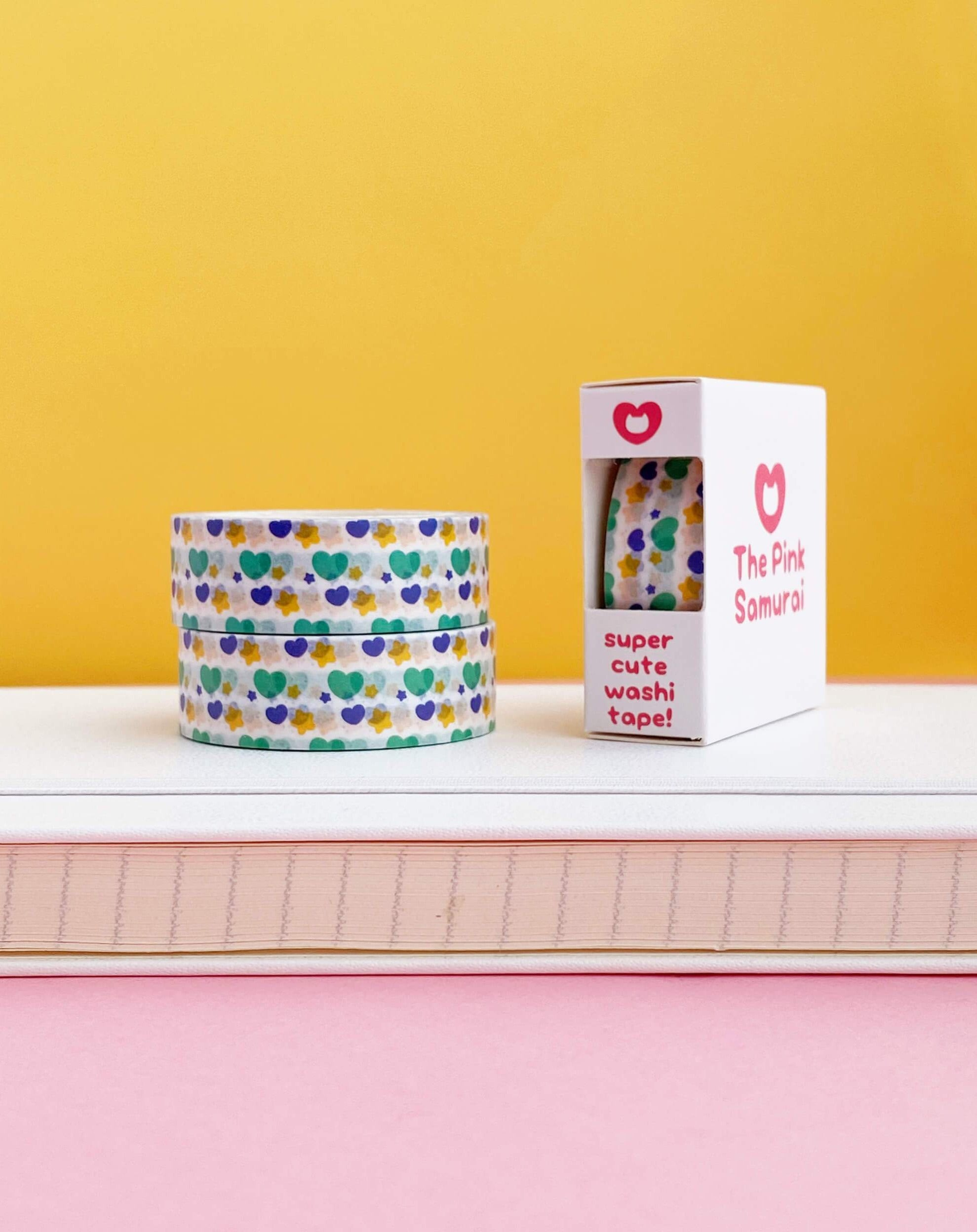 Hearts and Stars Washi Tape • Blue